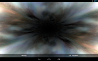 Screenshot of Black Hole Live Wallpaper