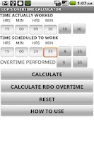 Screenshot of Cop's Overtime Calculator