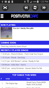 Positive Mix Cafe - CCM Radio - screenshot