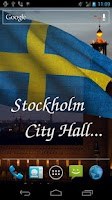Screenshot of 3D Sweden Flag Live Wallpaper+