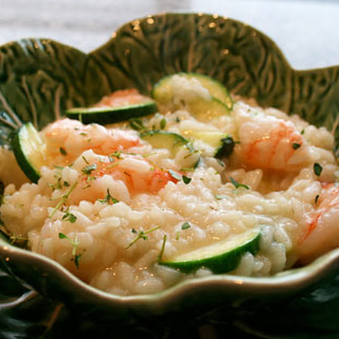 Risotto With Shrimp And Zucchini