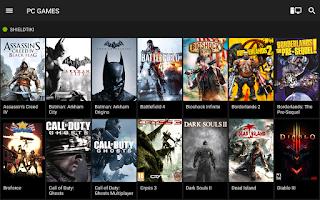 Screenshot of NVIDIA SHIELD Hub