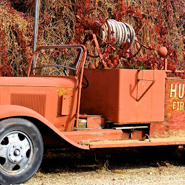 Old Pumper by Vern Tunnell - Transportation Automobiles
