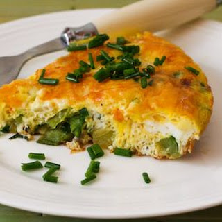 Garden Veggie Frittata with Chives and Parmesan