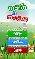 Screenshot of Math in Motion for kids