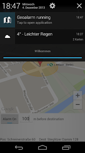 Simple GeoAlarm - screenshot