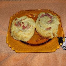 Cheese and Ham Scone Whirls