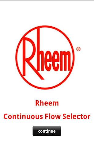 【免費書籍App】Rheem Continuous Flow Selector-APP點子