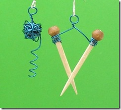 knit earrings