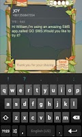 Screenshot of GO SMS Pro Nturkey Popup THX