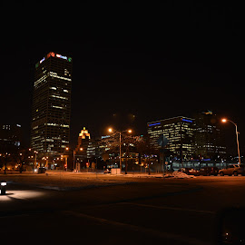 milwaukee by Jay Anderson - City,  Street & Park  Skylines ( milwaukee, skyline, sky, night, light, city,  )