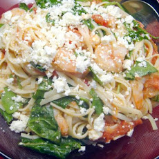 Roasted Tomatoes With Shrimp Linguine