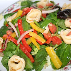 Tortellini Spinach Salad With Sesame Dressing