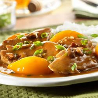 Pork Tenderloin with Peach and Pecan Sauce