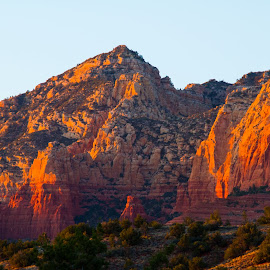 Red Rocks Near Sedona by Peter Wilkins - Landscapes Mountains & Hills