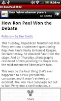 Screenshot of Dr Ron Paul 2012