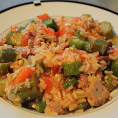 Skillet Okra and Rice