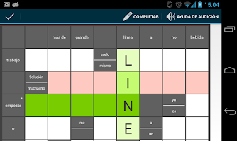 Screenshot of Inglés en crucigramas