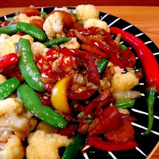 Burmese Veggies With Hot Peppers