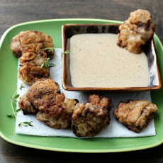Chicken-Fried Steak Nuggets with Beer and Bourbon Gravy