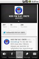 Screenshot of KissFM 96.1