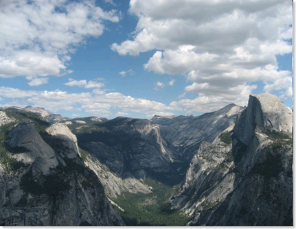 Yosemite, Glacier Point views, Half Dome