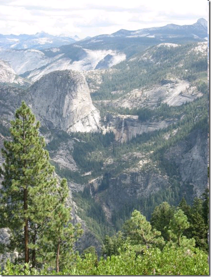Yosemite, Glacier Point views, Vernal Falls and Nevada Falls