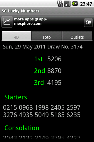 SG Lucky Numbers