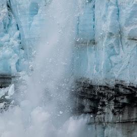 Avalanche by Ava Kjos - Landscapes Caves & Formations ( glacier, glacierbay, snow, alaska, summer, avalanche )