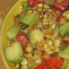 Corn, Cucumber and Tomato Salad