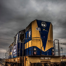 Tomcat by Martin Jahn - Transportation Trains ( locomotive, czech republic, studenka, cloudy, train )