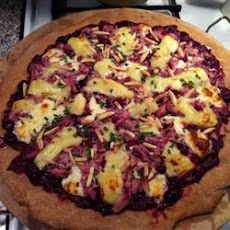 Chicken and Cranberry Pizza with Brie and Almonds