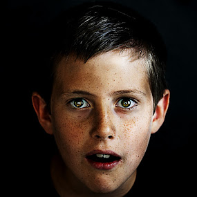 Surprise by Fabio Ponzi - Babies & Children Child Portraits ( child, mouth, surprise, eye )
