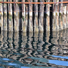 Pier Reflects by Jeff Schartz - Abstract Patterns