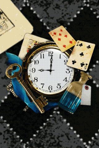 Alice's Wonderland clockWidget