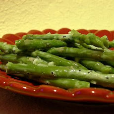 Chilled Asparagus With Lemony Garlic Dressing
