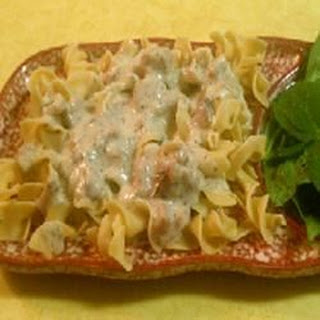 White Sauce with Ham and Herbs