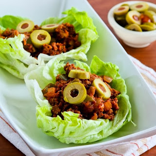 Turkey Picadillo Lettuce Wraps