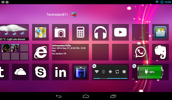 Screenshot of Home8 like Windows 8 launcher