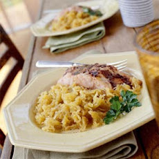 Orange-Spiced Salmon with Spaghetti Squash
