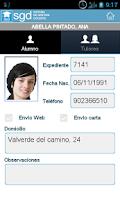 Screenshot of sgd app