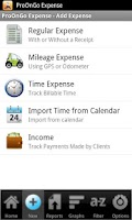 Screenshot of ProOnGo - Expense Tracker