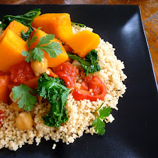 Butternut Squash, Tomato and Chickpea Ragout with Kale and Couscous
