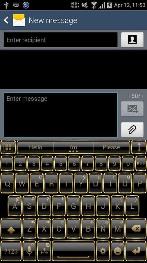 Theme for A.I.type Frame Gold Screenshot 0