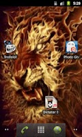 Screenshot of 3D Flaming lion live wallpaper