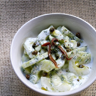 Cucumber, Dill & Yoghurt Salad with Capers and Anchovies