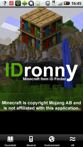 IDronny Block ID Finder MC