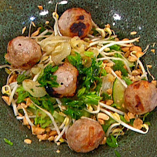 Vermicelli Salad Bowl with Vietnamese BBQ Pork Meatballs