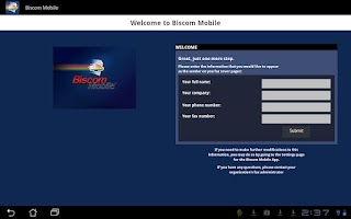 Screenshot of Biscom Mobile Fax for Android
