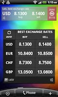 Screenshot of Currency Exchange Rates in UA